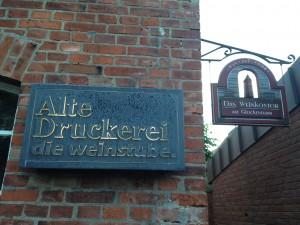 Alte Druckerei Wyk auf Foehr Weinkontor